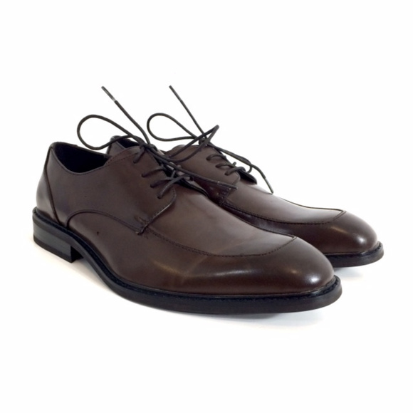 f8bf4d39380792 Brown Leather Oxfords Derby Formal Shoes